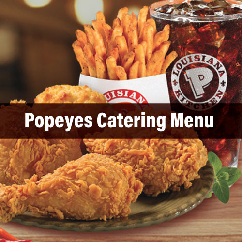 Popeyes Catering Menu Prices & Services Reviews