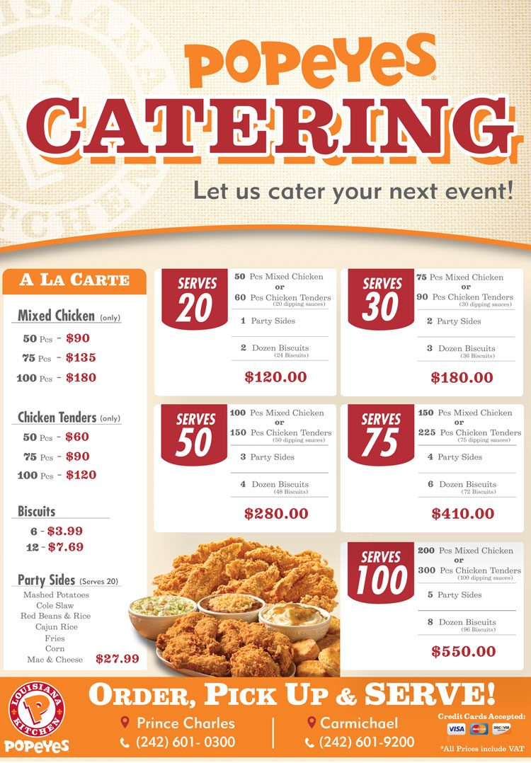 popeyes catering