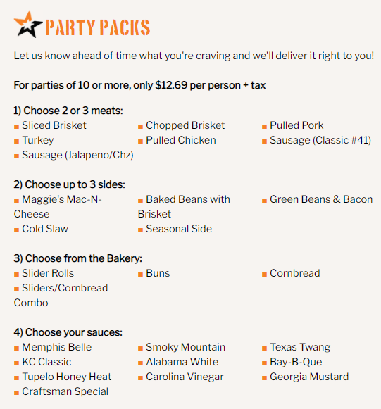 Mission bbq party packs